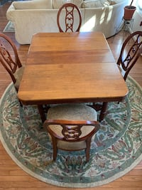 Dining room table, 5 chairs and rug Annapolis, 21401