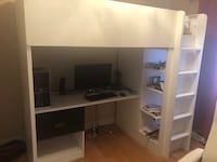 Bunk Bed with Desk and Closet Burlington, L7L 7M8