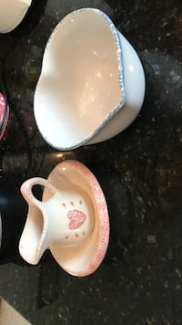 Stoneware pitcher set and heart shaped bowl Gainesville, 20155