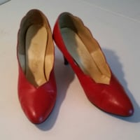 pair of red leather pumps Lathrup Village