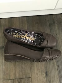 Brand New Brown Leather Skechers - never worn size 7  Red Deer, T4R 1L9