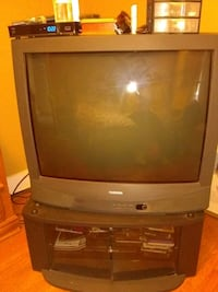 gray CRT television with TV stand Schenectady, 12309