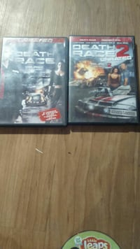two Death Race DVD movie cases