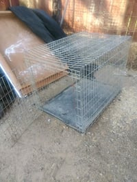gray metal wire pet kennel Bakersfield, 93306