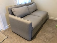 Gray fabric 2-seat sofa with Storage Hialeah, 33018