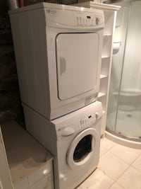 white front-load clothes washer and dryer set Montréal, H2W