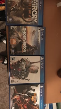 4 assorted PS4 games