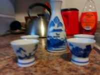 Blue and white Japanese sale set with 4 cups Wilmington, 19808
