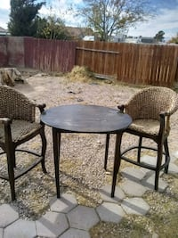 round black metal patio table with two chairs Las Vegas, 89115