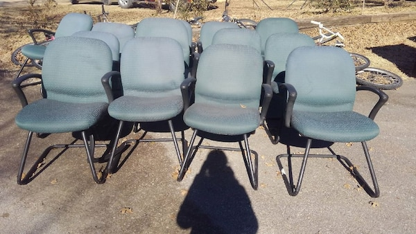 gray and black armchair lot