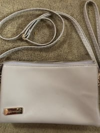 white and brown leather crossbody bag Woodstock, 35188