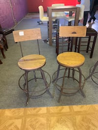 Rustic Barstools with Back (set of 2) Gaithersburg