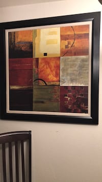brown wooden framed painting of abstract Tempe, 85283