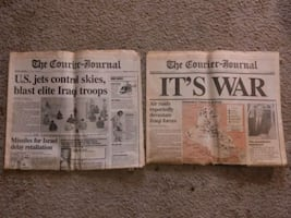 1991 courier journal gulf war newspapers