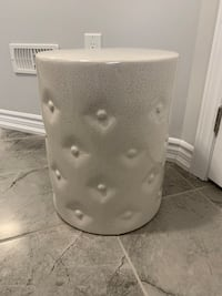 Ceramic outdoor side table/ stool Hamilton, L8B 0A3