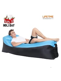 Lougnee Inflatable Lounge Air Lounger Sofa Beach Bed Couch Dream Chair with Bag for Home Indoor Outdoor Activitiesj