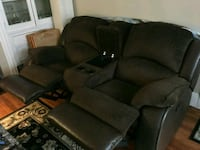 black and brown fabric recliner sofa and love seat Manchester, 06040