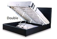 Brand New DOUBLE size Storage bed frame (black)