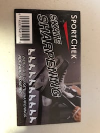 10 times of skate sharpener card on sale. Normally 56.50 with tax