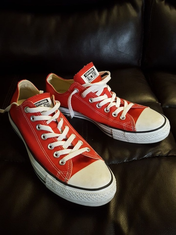 798cb97bd591 Used pair of red Converse All Star low top snekaers for sale in Surrey