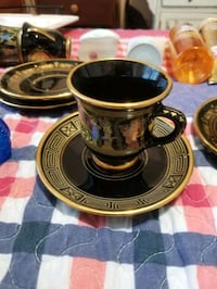 Saucers and cups 24 k gold