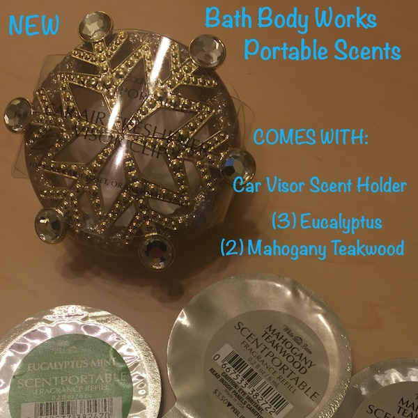 NEW BATH BODY WORKS CAR SCENTS & HOLDER