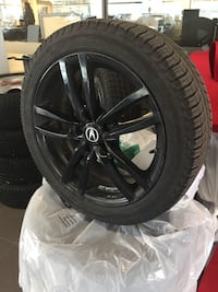 Winter Tires and Rims with tire pressure sensors, 2 seasons on tires and 5500km's on the tires, 17 x 7 P215/45R17 Directional Tires Michelin X-Ice