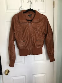 brown leather zip-up jacket Innisfil, L9S 2A3
