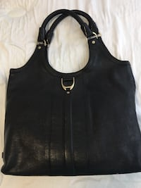Cole Haan Black Braided Strap Hobo Bag