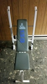 black and white Weider bench press