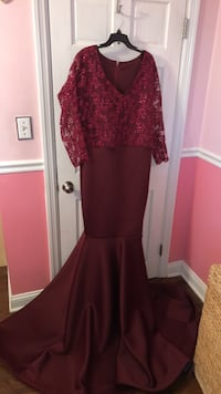Custom Made Burgundy Prom Dress Gwynn Oak, 21207