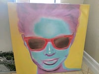 painting of woman wearing red wayfarer sunglasses San Ramon, 94582