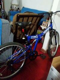 blue and white full-suspension bike...needs repair Bronx, 10460