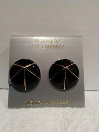Vintage Black Clip Earrings  West Springfield