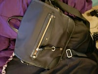 black leather 2-way bag Calgary, T2L 1Z4