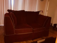 Burgundy suede 3-seat sofa and loveseat District Heights, 20747