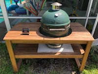 Large Big Green Egg with Table and lots of extras. Over 2k in value Boca Raton, 33428