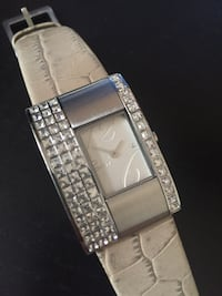 Leather Watch with Crystals DKNY Vancouver, V6G 2S3