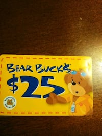 Build a Bear gift card $25 Accokeek, 20607