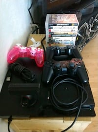 black Sony PS2 console with controllers and game c Dallas, 97338