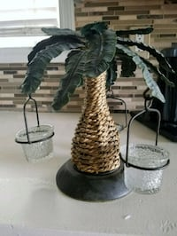 Decorative Palm Tree Candle Holder  Myrtle Beach