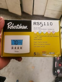 Robertshaw digital programmable thermostat box Baltimore, 21239