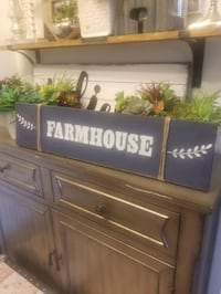Rustic navy wooden farmhouse sign! Watertown, 02472