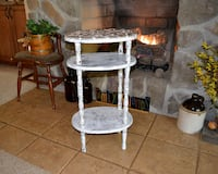 Shabby chic refurbished side table with tile top North East, 21901
