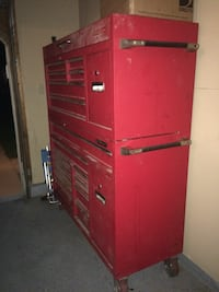 Red tool box top and bottom