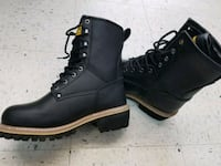 pair of black leather work boots Annandale, 22003