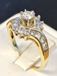 Diamond yellow gold engagement ring Riverview, 48193