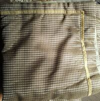 PAIR 26X26 INCH PILLOW SHAMS BEAUTIFUL GOLD WITH T