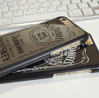 silver Jack Daniels iPhone case