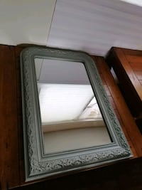 Antique looking mint green mirror